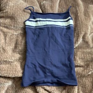 Tops - Blue and white tank top